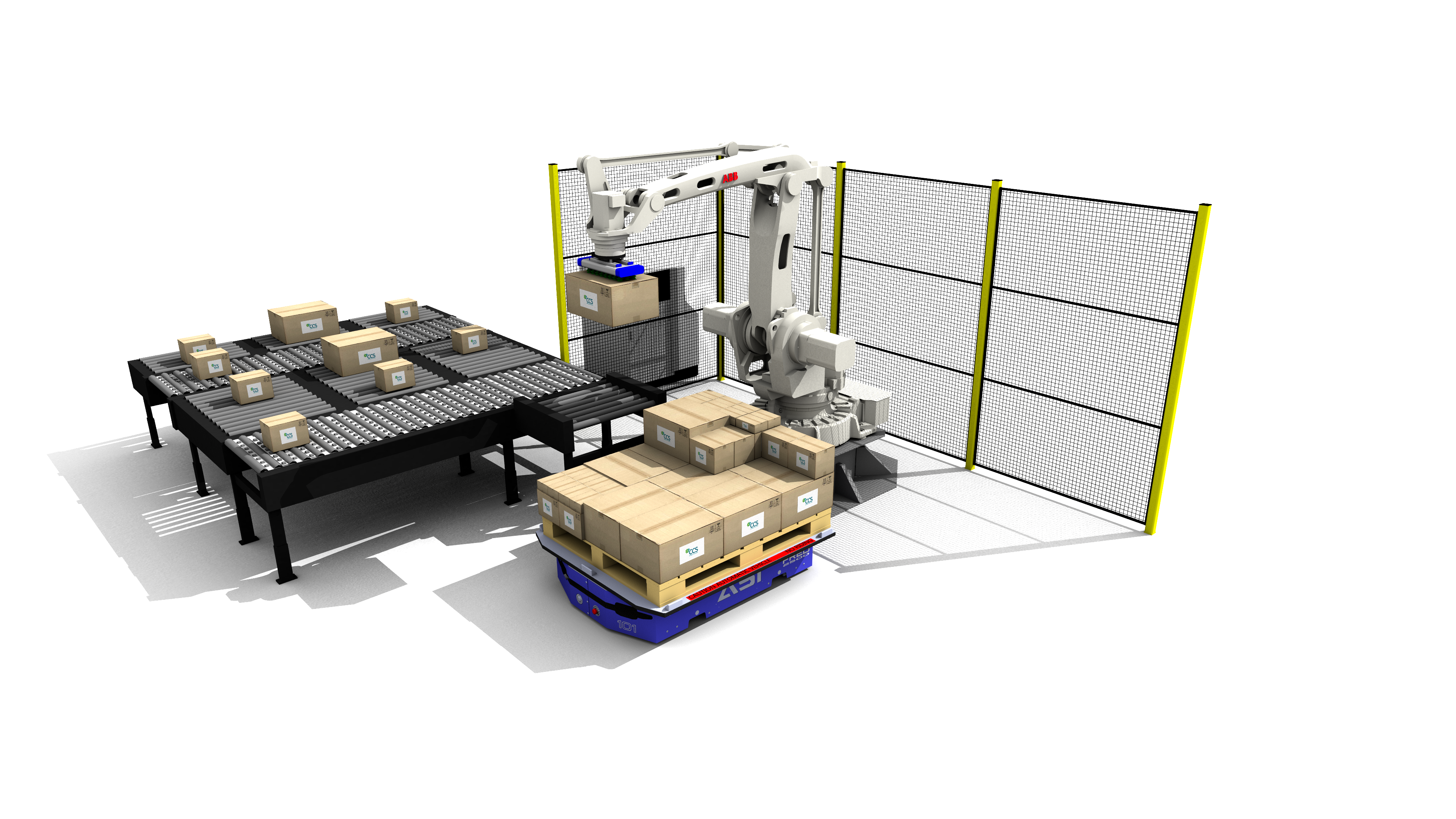 CCS Robotic Mixed Case Palletizer